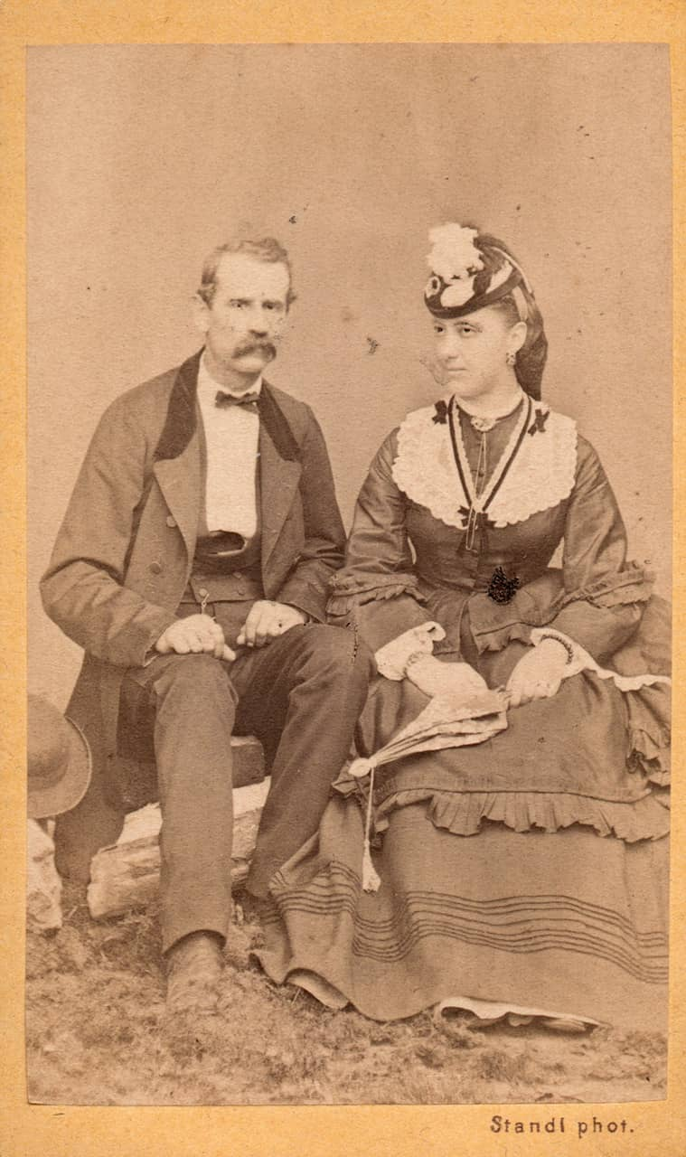 A lady and a gentleman, Ivan Standl, Zagreb, around 1865