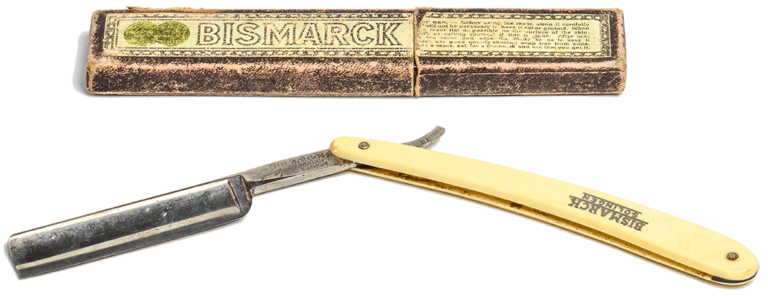 Razor blade, Bismarck razor works, Solinger, first half of the 20th century