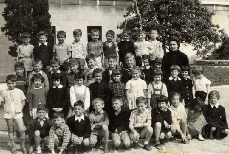 First-graders visiting the Museum, Rijeka, 1959