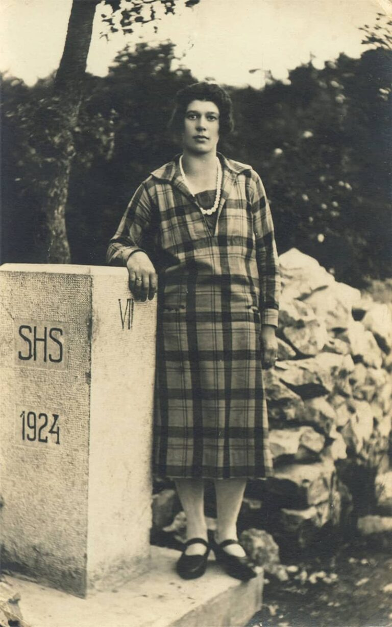 Girl on the border of the Kingdom of Serbs, Croats and Slovenes, Pašac – the Rječina river canyon, 20th century, Drenova Heritage Museum