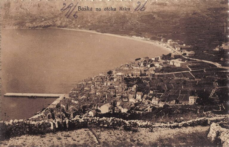 Baška on the island of Krk, S. Riemer, Sušak, 1925