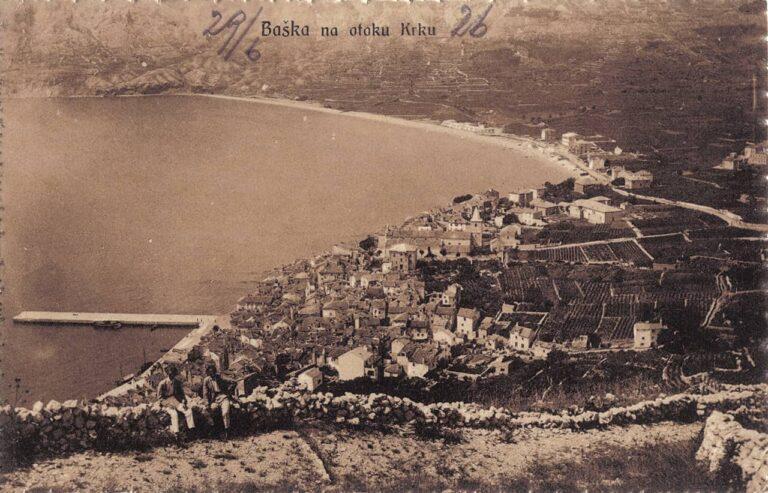 Baška na otoku Krku, S. Riemer, Sušak, 1925.
