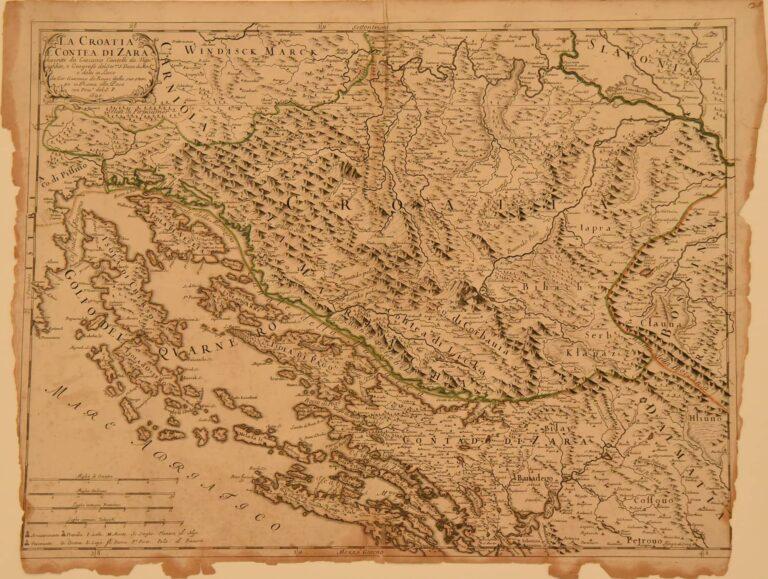Croatia and Zadar area, Giacomo Cantelli, Rim, 1690