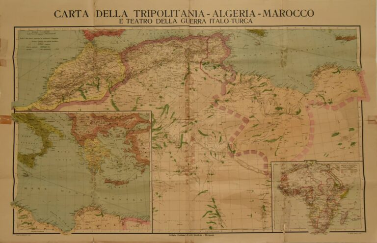 Warring areas in North Africa (colonial war between Italy and Turkey), Bergamo, first half of the 20th century