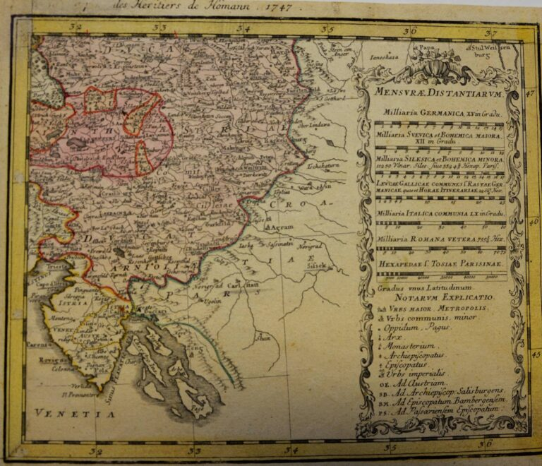 The map of Austria, 1747
