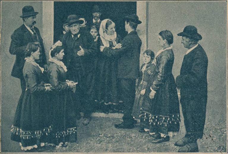 Pirni običaj u Vrbniku, Tiskara Kurykta, Krk, oko 1900.