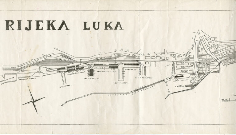 Plan riječke luke, 1952.