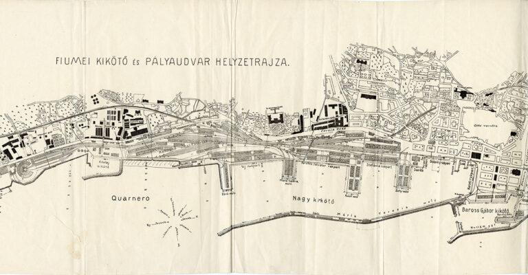 Plan riječke luke, 1915.