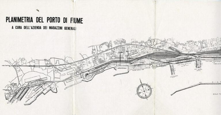 Planimetria del porto di Fiume, 1939.