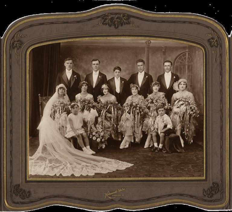 American wedding of Milica and Dinko Spinčić, Kolasinski Studio, Chester, first half of the 20th century