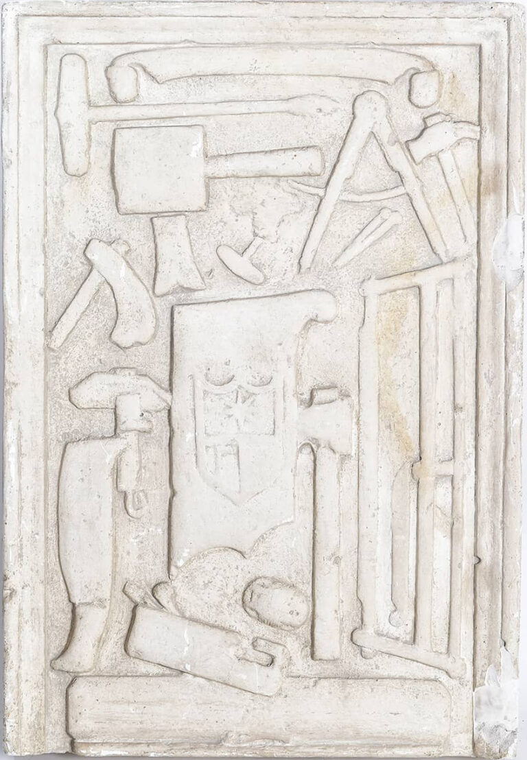Plaster casting of shipbuilder Marganić's tombstone, Rab, 16th century
