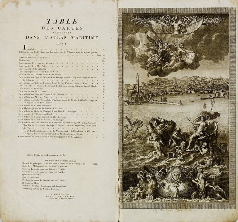Pomorski Atlas, Atlas Maritime, Chez Yves, 1802.