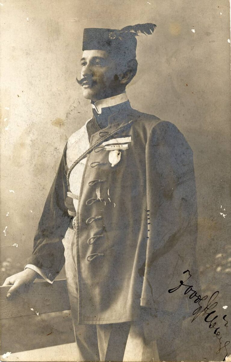 Sokolaš / Falconer (a member of the Croatian Falcon Society), Bogumil Zoubek, Rijeka, first half of the 20th century