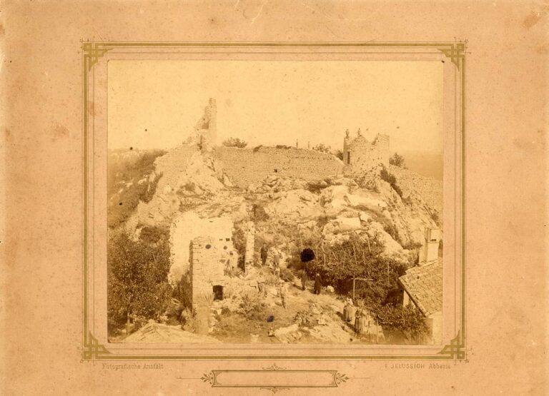 Photograph of the remains of the Kastav walls – Žudika, Edmund Jelussich, Kastav, end of the 19th century