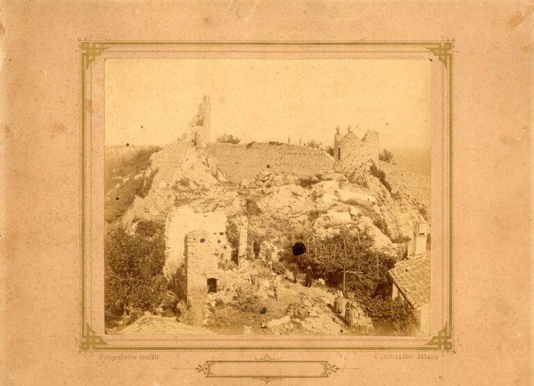 Fotografija ostataka kastavskih zidina -  Žudika, Edmund Jelussich, Kastav, kraj 19. stoljeća