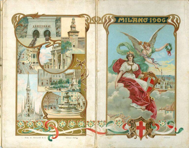 Turistički vodič Milano, Stab. d´Arti Grafiche A. Bertarelli & Co., Milano, 1906.