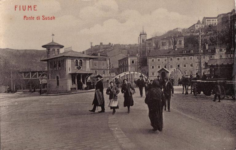 Fiume – Ponte di Susak/Rijeka – Sušak Bridge, W. L., 1907