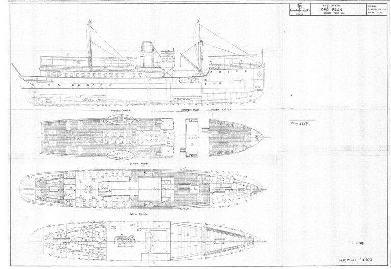 Bakar steamboat, draft, 1942