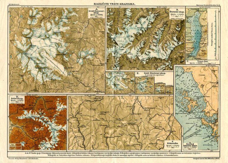 Različite vrste krajolika, E. Hozel, Beč, početak 20. stoljeća