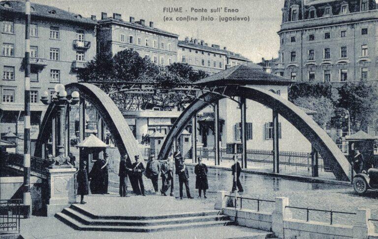 Fiume – Ponte sull'Eneo/Rijeka – bridge on the Rječina River, Ediz. G. P. Fiume, Rijeka, 1942