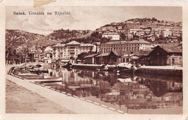 Sušak – border on the Rječina river, S. Riemer, Sušak, 1928