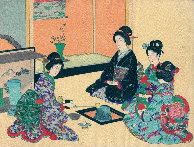 """Egzotika """"dalekog"""" Japana - ceremonija pijenja čaja, A. Akiyama, Tokio"""