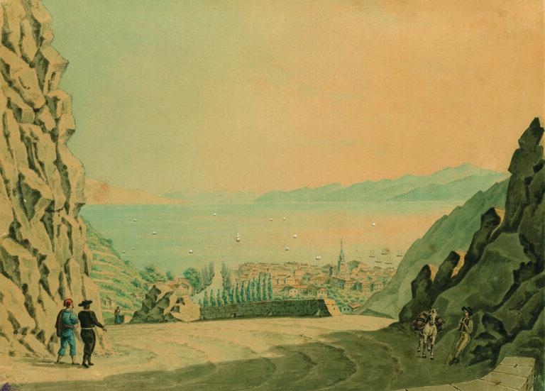 Pogled na Rijeku s Banskih vrata, Christian von Maÿr, Rijeka, 1832.