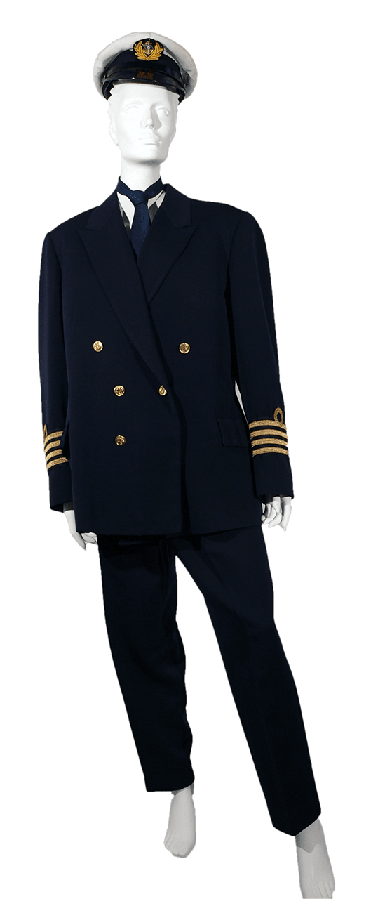 Uniform of the Jugolinija ship Rijeka's captain, Zagreb, 1980/1981