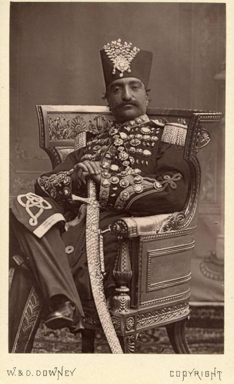 Naser Al-Din, Shah of Persia, W. & D. Downey, around 1870