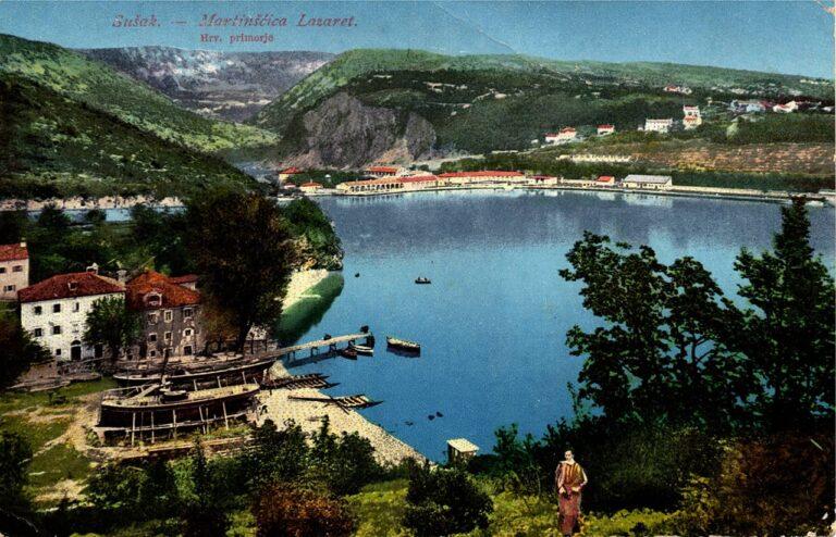 Lazaret u Martinšćici, Knjižara G. Šikić, Rijeka, oko 1920.