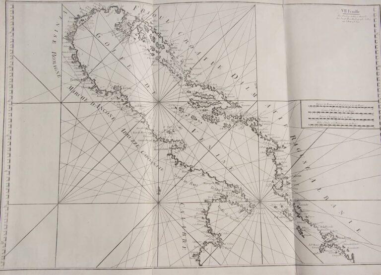 Nautical chart of the Adriatic Sea, Joseph Roux, Marseille, 1802