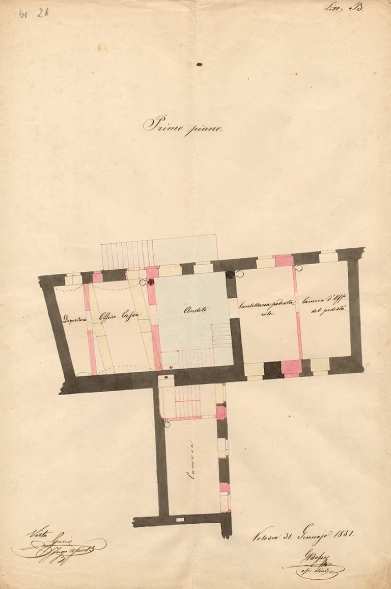 First floor ground plans of two municipal houses in Kastav, Volosko, 3 May 1851