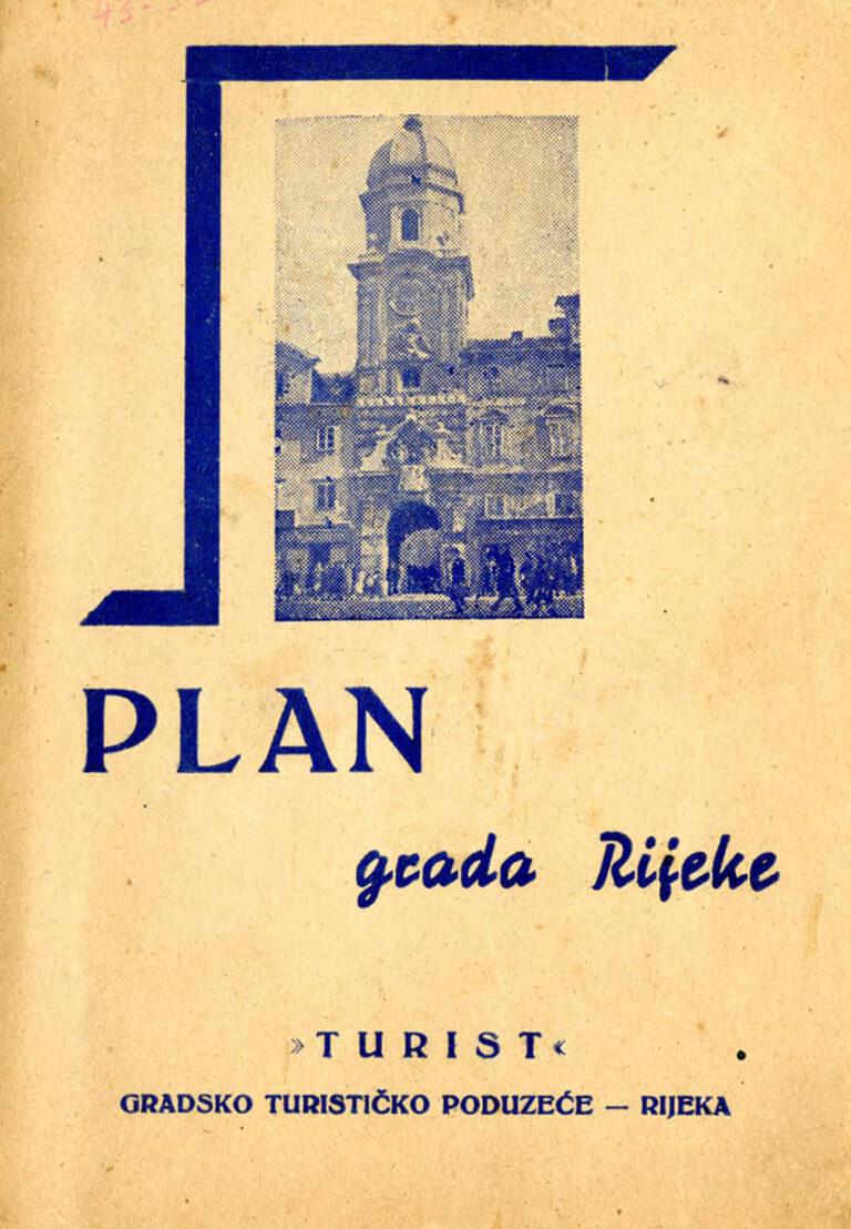 Rijeka city plan, Turist, Rijeka, around 1950
