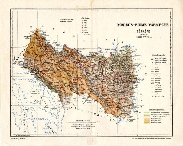 Modruš-Rijeka County, 1896