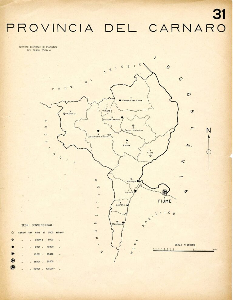 Italian Kvarner province, 1930s
