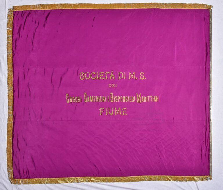 Zastava, sobara, mornara i kuhara Pomorske kompanije u Rijeci, Ungaro - Croata, Fiume, 1908.