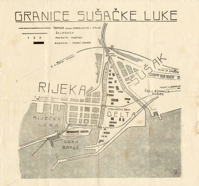 Borders of Sušak port, 1930s