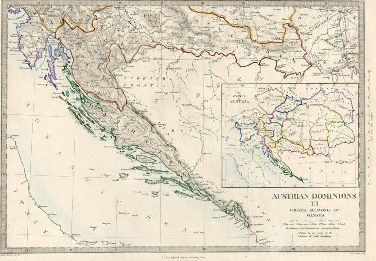 Austrian possessions, Croatia, Slavonia and Dalmatia, 1860