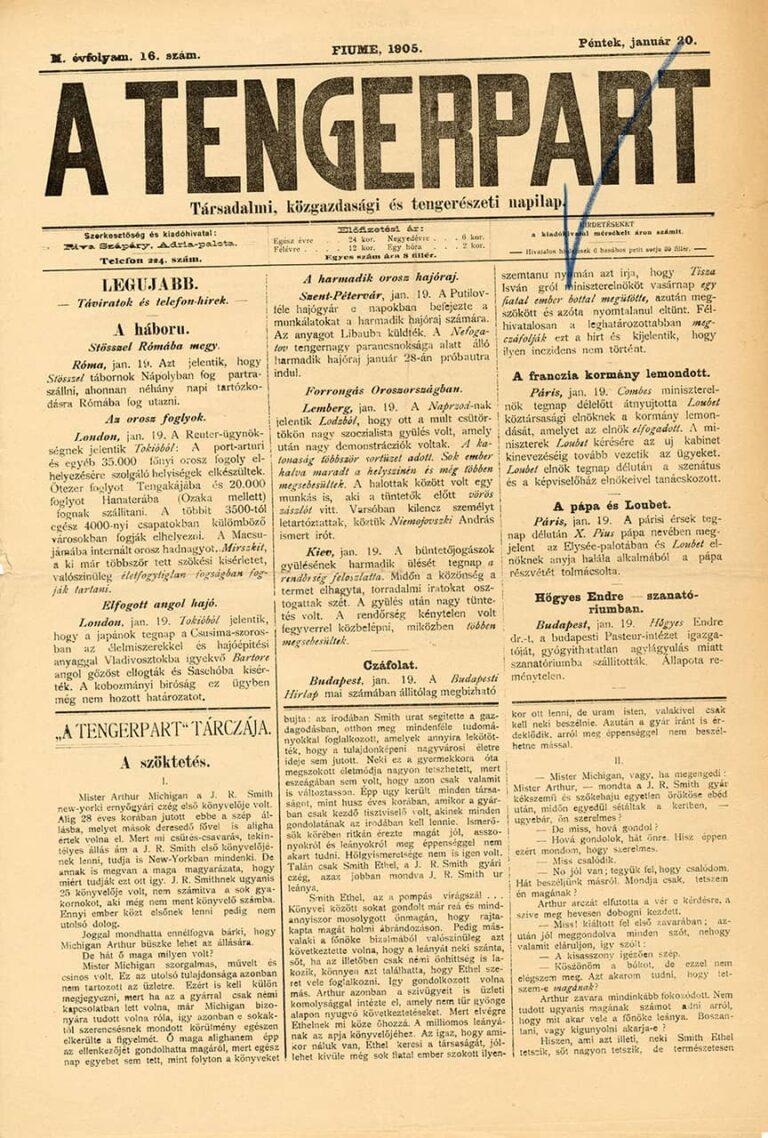 A Tengerpart, 20. siječnja 1905.