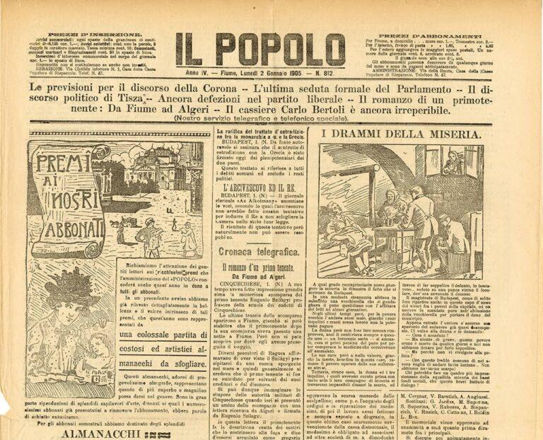 Il Popolo, 2. siječnja 1905.