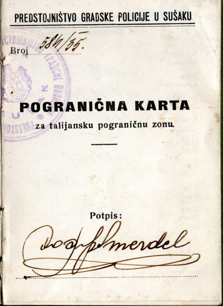 Pogranična karta za zonu Rijeka – Sušak, 1935.