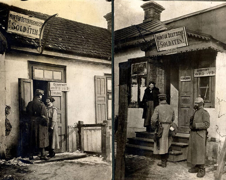 Photographs showing prostitutes from the Austrian-Hungarian Eastern Front in the World War I, 1915