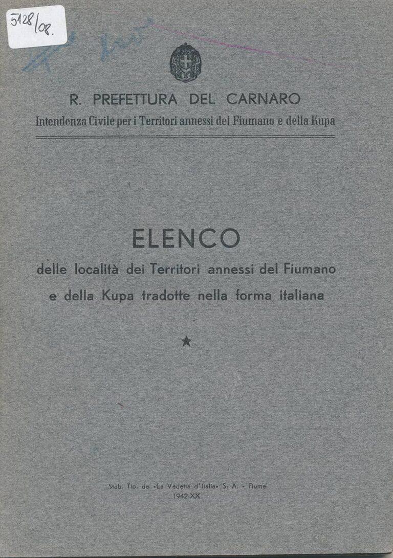 Elenco, Rijeka, 1942