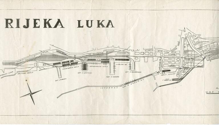 Port of Rijeka plan, 1952