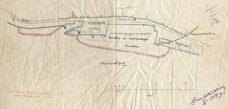 Port of Rijeka plan – Brajda, second half of the 19th century