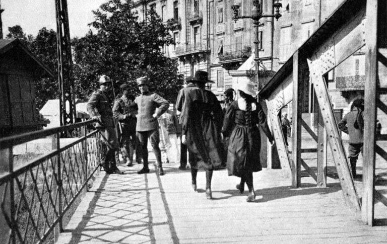 Border crossing on the Rječina river, 1920
