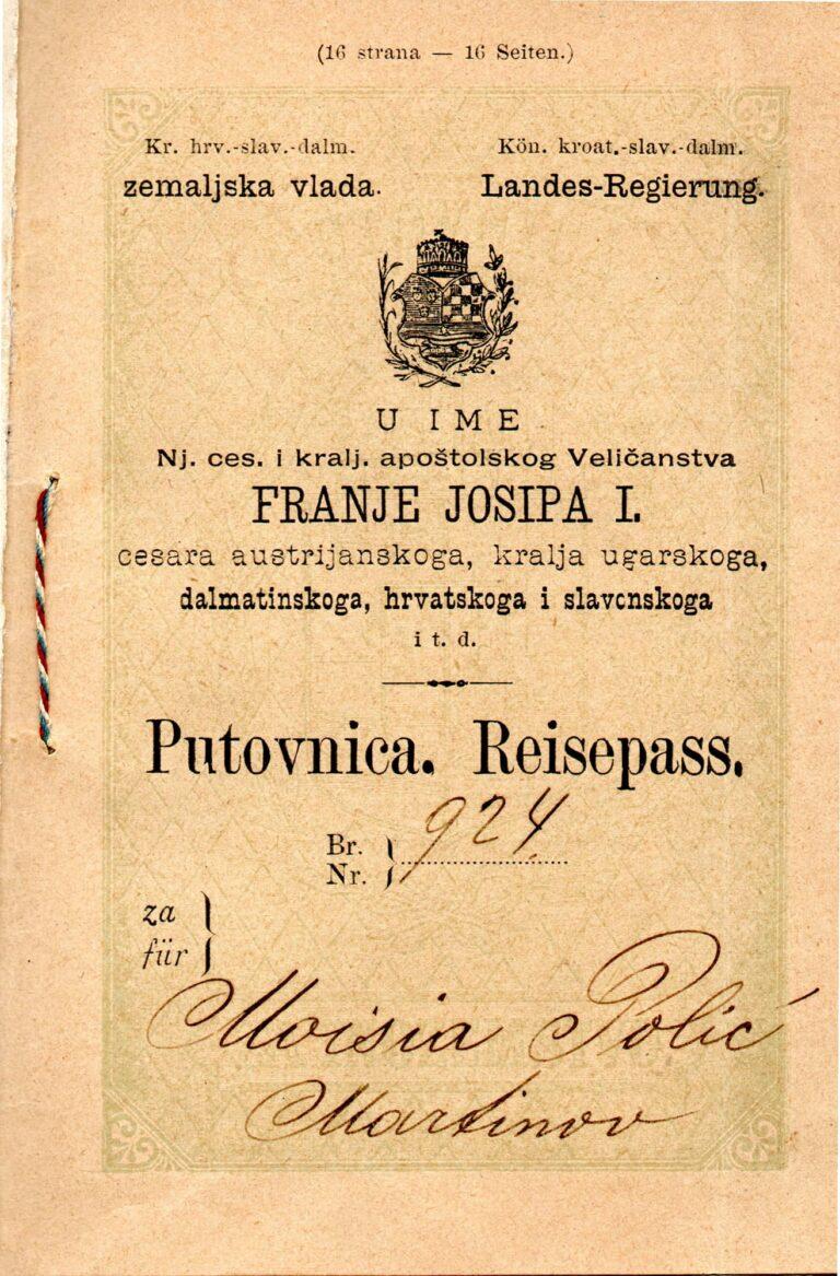 Austrougarska putovnica Moisije Polić